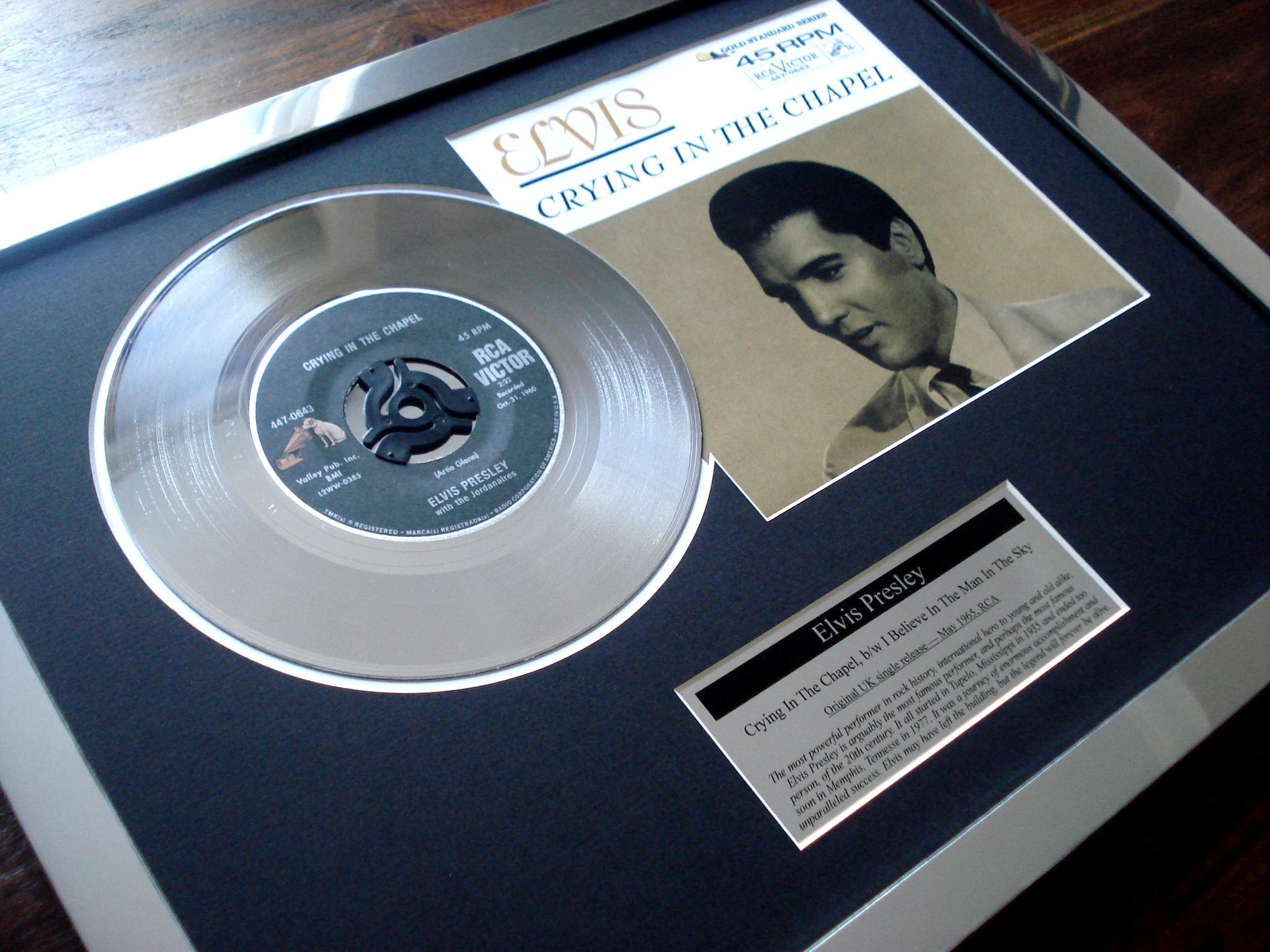 Stunning Gold Disc And Platinum Disc Music Presentations
