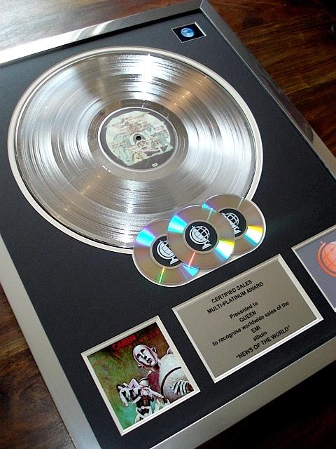 Platinum discs, platinum records, multi platinum disc